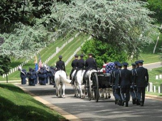 As I view this procession, I can almost hear taps playing, taking this fallen hero to his final resting place. I may not know who you are, but I will never forget the sacrifice you have made for our country.