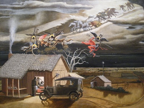 Swing Low, Sweet Chariot.  I wish you could see this one in person, it is just amazing art, with a lot of feeling.