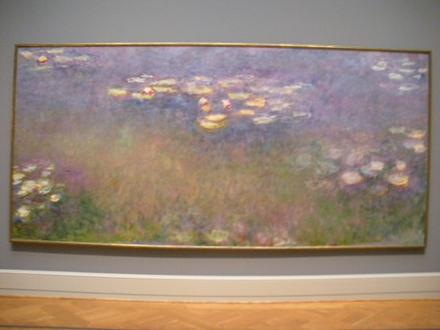 Monet's Water Lilies at Saint Louis Art Museum.  Its very hard to capture just how amazing this one was.