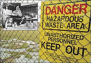 Love Canal warning sign