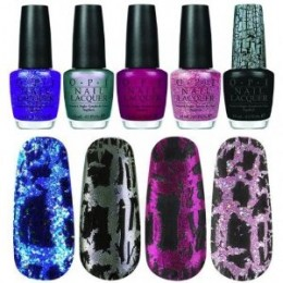 Black Shatter Crackle And 4 OPI Nail Polish Katy Perry Set