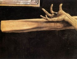 """""""Let your mother share your wounds."""" Detail from the Isenheim Alterpiece by Matthias Grunewald"""