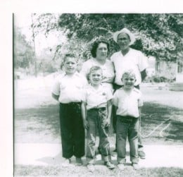 In front: Me (Richard), Allen, Donny... Rear: Mom, Dad California 1955