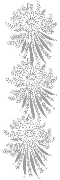 Online Flower Coloring Pages and Free Colouring Pictures to Print - in Custom Coloring Book - stylized sunflower