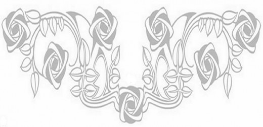 Online Flower Coloring Pages and Free Colouring Pictures to Print in Custom Coloring Book - Floral Border
