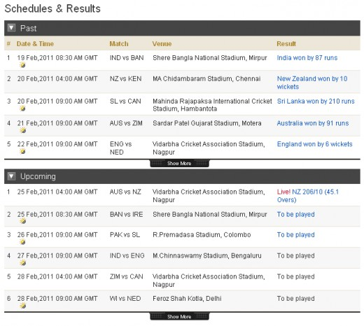 icc world cup 2011 schedule calendar. Schedule for ICC World Cup