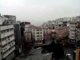 from my hotel window, looking out to the bosphorus