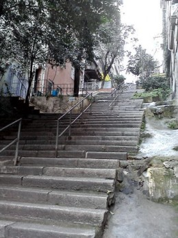 many streets are staircases as the hills are so steep