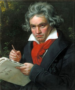 Beethoven in 1820.  Portrait by Joseph Karl Stieler.  Courtesy Wikimedia Commons.