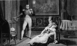 Josephine - fainting upon being told by Napoleon that he wants a divorce.  You might be less likely to swoon if you have a prenup all squared away!