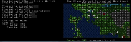 Dwarf Fortress with the Phoebus graphical tileset.