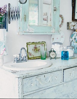 A Shabby Chic Bathroom Sink Cabinet