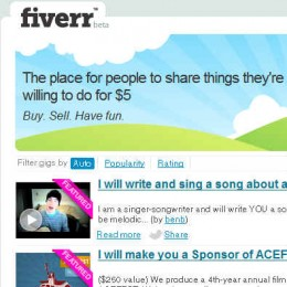 Fiverr Review - Things you do for 5$