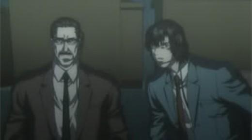 NPA chief Yagami Soichiro (Light's dad) and Matsuda.