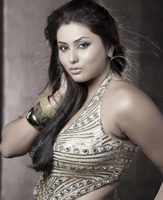 Namitha practices yoga to maintain her curvy figure.