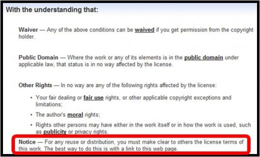 Step 6A - Read the license all the way down so you are certain about the restrictions per use of the image