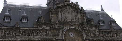 Facade detail of Roubaix's City Hall