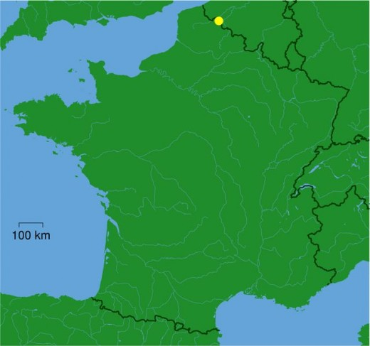 Map location of Roubaix, France