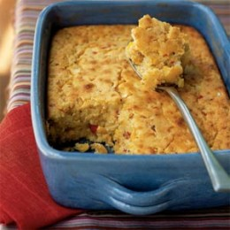 Corn Fritter Casserole is a dish I take to potlucks.  It is always a big hit.