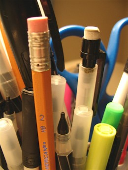 Thinking about throwing away that empty pen? Think twice. Do you have pens and pencils in every area of your house? Better get on it. Writing utencils make a great weapon in a pinch!