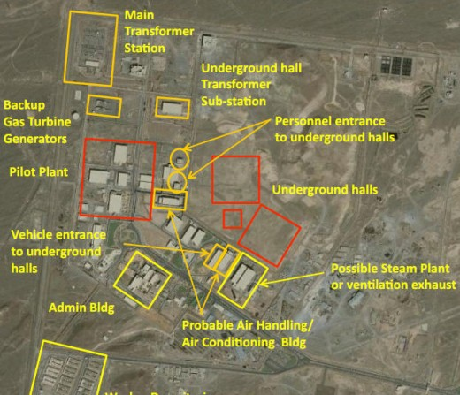 Satellite photo of the Natanz nuclear site