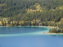 Emerald Lake north of Carcross.