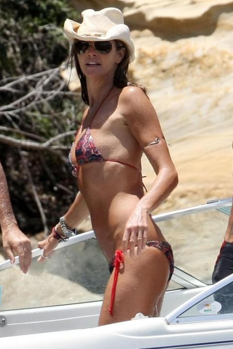 Elle Macpherson in a bikini