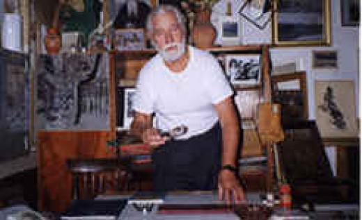 Nikolai Getman at his workshop in Orel, Russia before his death in 2004