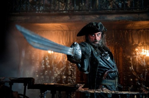 Formidable Captain Blackbeard @ Pirates 4 movie wallpaper