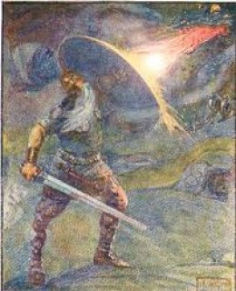 beowulf the fight with himself He rips off his arm and places it in herot grendel runs home and laters dies in his lair but his mother goes back to herot to kill and gets away until beowulf goes.