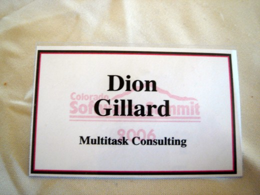 People place great emphasis upon there name when producing business cards!