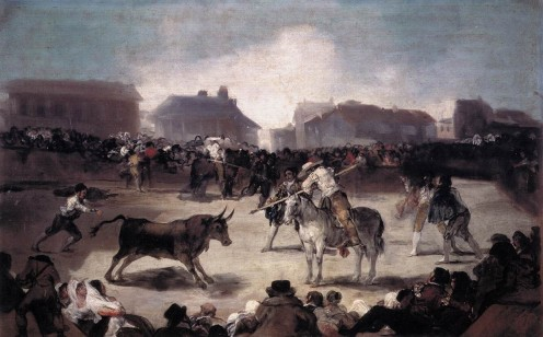 A Village Bullfight- Francisco Goya- 1813