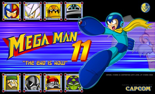 Mega Man 11 Mock Cover by xamoel