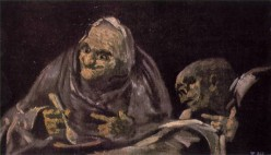 Two Old Women Eating, 1821