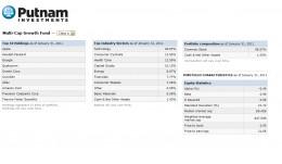 Putnam Multi-Cap Growth Holdings