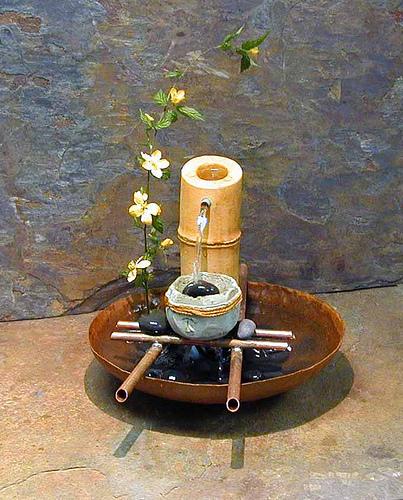 Feng shui indoor fountain.