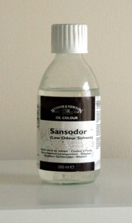 Sansodor is a good low odor alternative to thinners/turps.