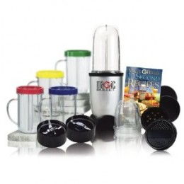 A Magic Bullet set comes with a variety of accessories.