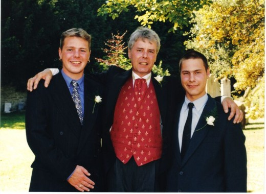 Neal left, Dave middle, Andy right on our wedding day.