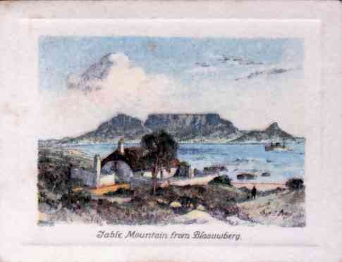 Table Mountain from Blaauwberg. The age-old mountain which has witnessed the passing of Diaz, da Gama, Drake and the landing of Jan van Riebeeck in 1652