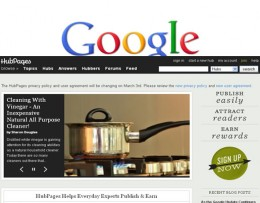 Hubpages Relationship With Google Search