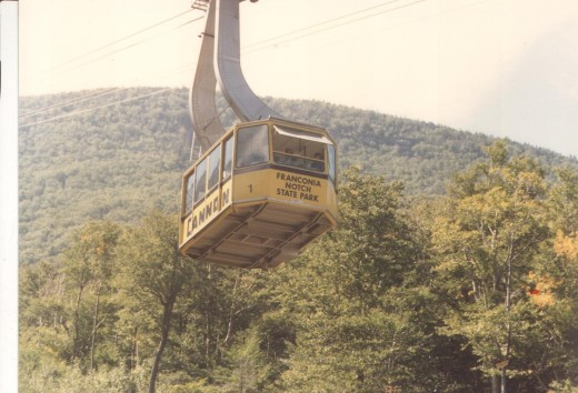 The Aerial Tramway takes You To The Top of Cannon Mt.