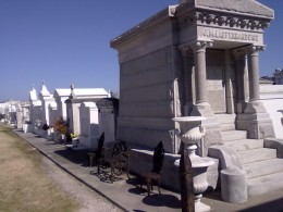 The cemeteries of New Orleans have upscale tombs for the well off...