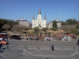 St. Louis Cathedral founded in 1720 is the oldest Catholic Cathedral in continual use in the United States.