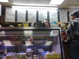 The counter at Johnny's Po-Boys