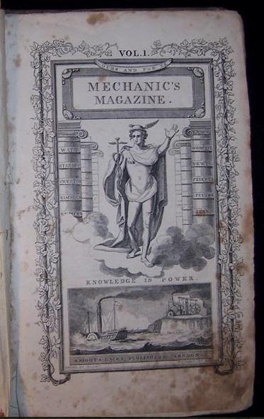 Vol. 1 of Mechanic's Magazine
