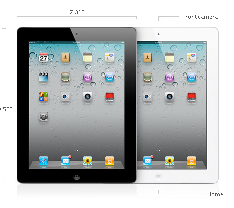 iPad 2 (comes in black and white)
