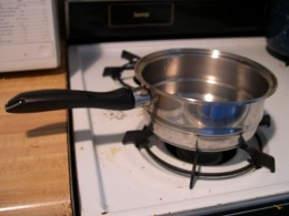 Saucepans are used for reduction of sauces, and of reheating foods.