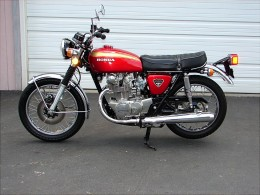 A 450 twin DOHC Honda. A very collectible motorcycle.