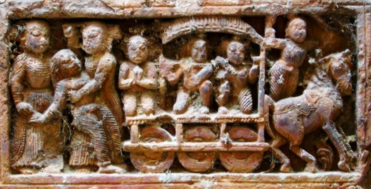 Chariot in terracotta